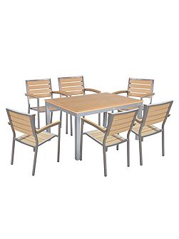 6 seater dining set with rectangle table in