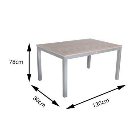 Sol Bistro 6 seater dining set with rectangle table in dark