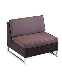 Manhattan rattan arm sofa joint unit in cappuccin