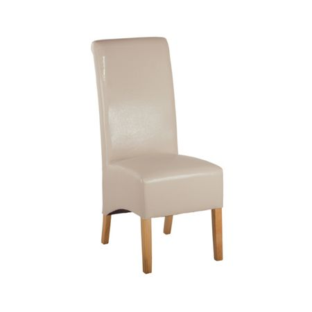 Oseasons Ivory faux leather dining chair