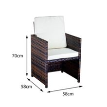 Oseasons Cube rattan 8 seater dining set in cappuccino
