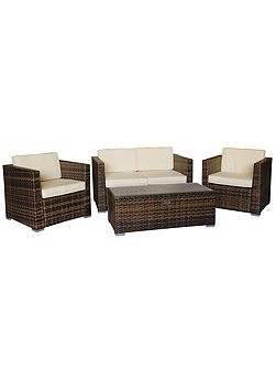 Oxford flex rattan 4 seater lounge set in