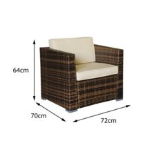 Oseasons Oxford flex rattan 4 seater lounge set in cappucc