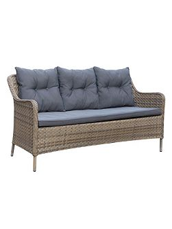 Oseasons Kensington rattan 3 seater arm sofa in