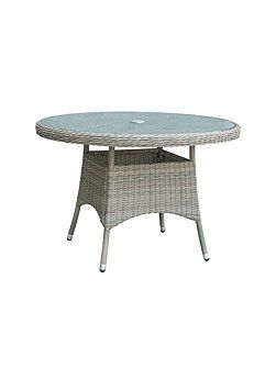 Eden rattan 4 seater dining table in chic