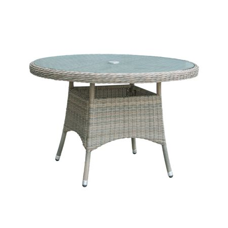 Oseasons Eden rattan 4 seater dining table in chic walnut