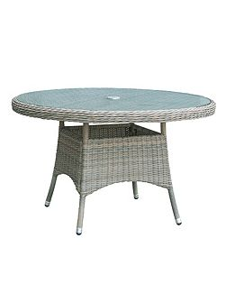 Eden rattan 6 seater dining table in chic