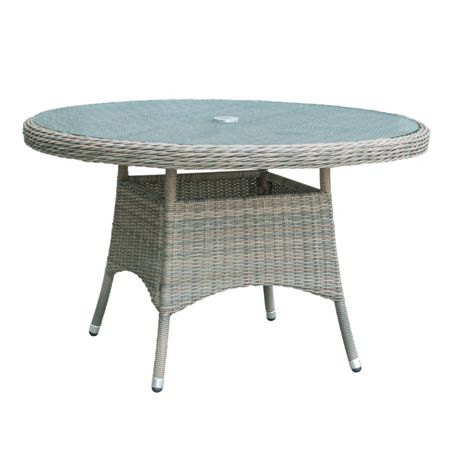 Oseasons Eden rattan 6 seater dining table in chic walnut