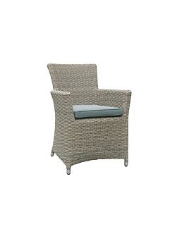 Eden rattan dining chair in chic walnut