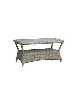 Eden rattan coffee table in chic walnut