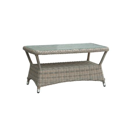 Oseasons Eden rattan coffee table in chic walnut