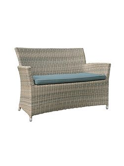 Oseasons Eden rattan 2 seater arm sofa in