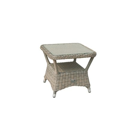 Oseasons Eden rattan side table in chic walnut