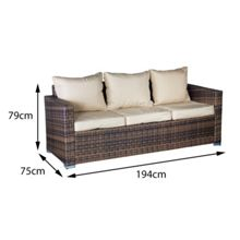 Oseasons Oxford rattan modular 8 seater corner set in capp