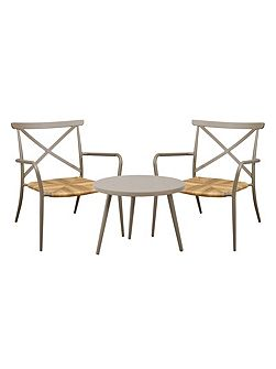 Milos rattan & aluminium 2 seater tea for