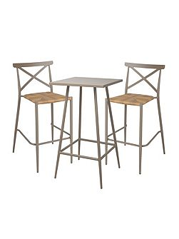Milos rattan & aluminium 2 seater bar set