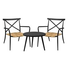 Oseasons Milos rattan & aluminium 2 seater tea for two set