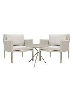Verona aluminium & fabric 2 seater casual tea