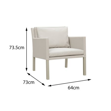 Cozy Bay Verona aluminium & fabric 2 seater casual tea for