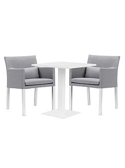 Verona aluminium & fabric 2 seater dining set