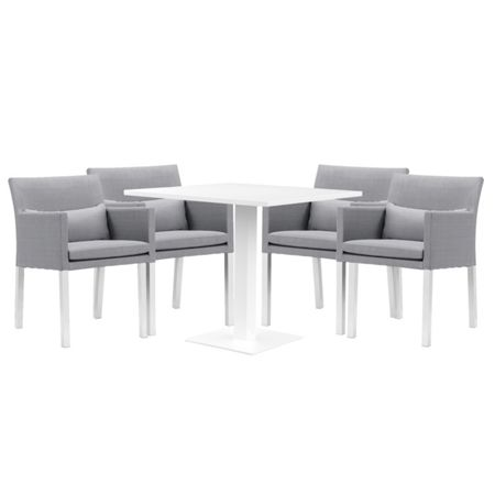 Cozy Bay Verona aluminium & fabric 4 seater dining set in