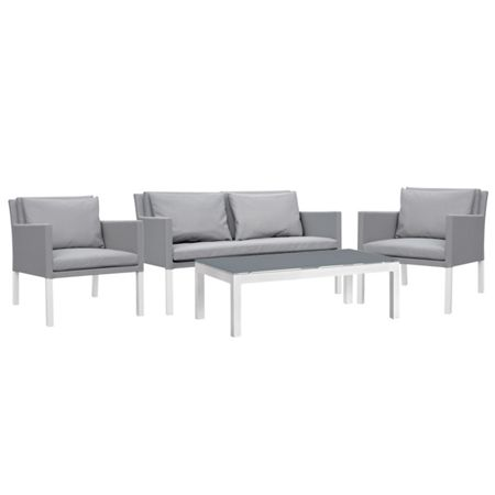 Cozy Bay Verona aluminium & fabric 4 seater lounge set in