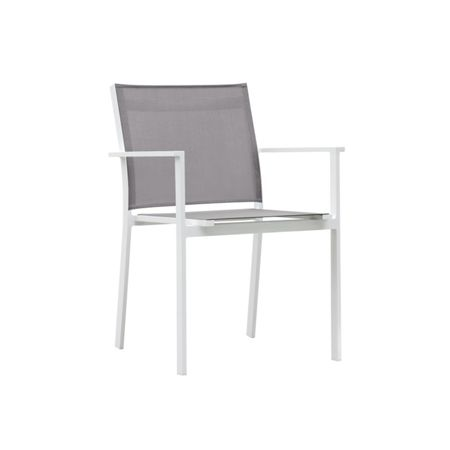 Cozy Bay Verona aluminium & textilene dining chair in whit