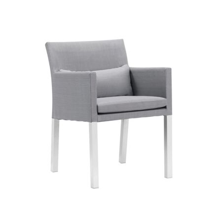 Cozy Bay Verona aluminium & fabric dining chair in white &
