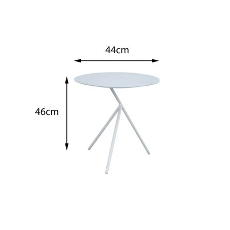 Cozy Bay Verona aluminium 3 legged side table in white
