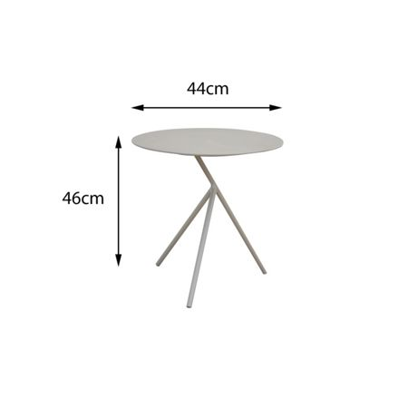 Cozy Bay Verona aluminium 3 legged side table in light tau