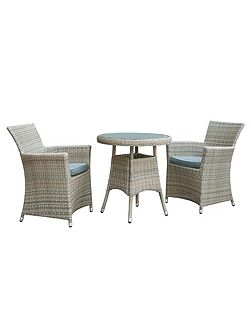 Eden rattan 2 seater bistro dining set in