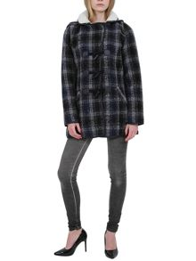 Urban Bliss Checked duffle coat