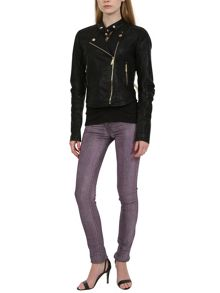 Urban Bliss Stylish black PU biker jacket