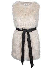 Urban Bliss PU Belted Fur Gilet