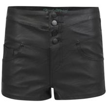 PU High Waist Hot pant