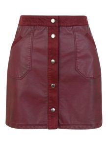 Molly Pu Suede Skirt
