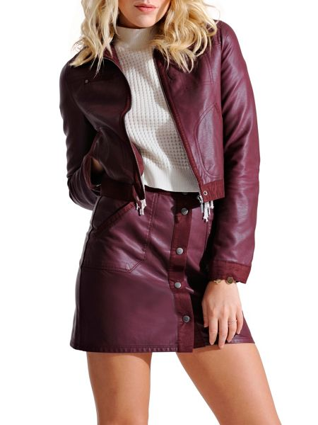 Urban Bliss Molly Pu Suede Skirt