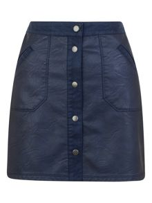 Urban Bliss Molly PU/ Suede Skirt