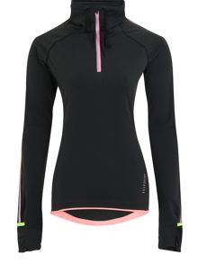 Elle Sport Running Thermal Warmwear 3/4 Zip Top