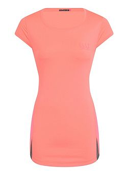 Wide Scoop Neck Lightweight Sport Tee