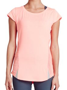 Elle Sport Wide Scoop Neck Lightweight Sport Tee