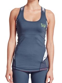 Elle Sport Sleek Mesh Panel Support Top