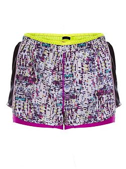 Printed Woven Double Layer Running Short