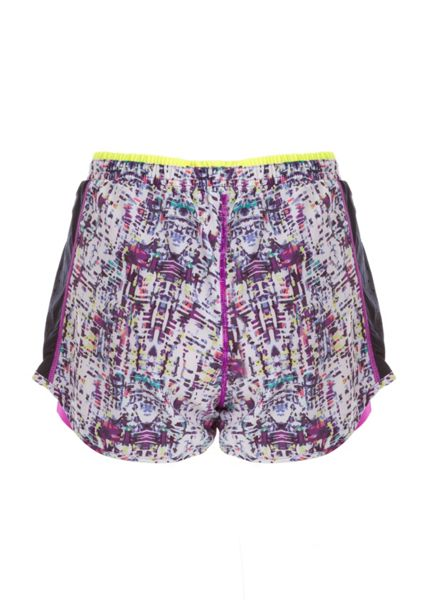 Elle Sport Printed Woven Double Layer Running Short