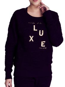 Elle Sport Textured Jacquard Sweat Top