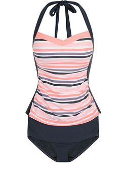 Side Panel Sweetheart Tankini