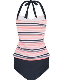 Elle Sport Side Panel Sweetheart Tankini