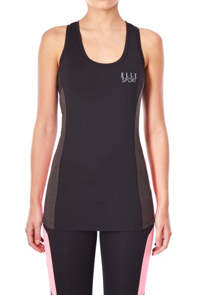 Elle Sport Colourblock High Neck Support Vest