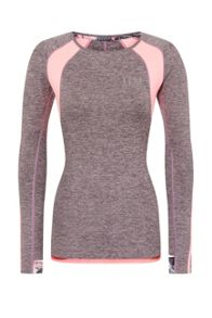 Elle Sport Colour Block Slash Neck Performance L/S