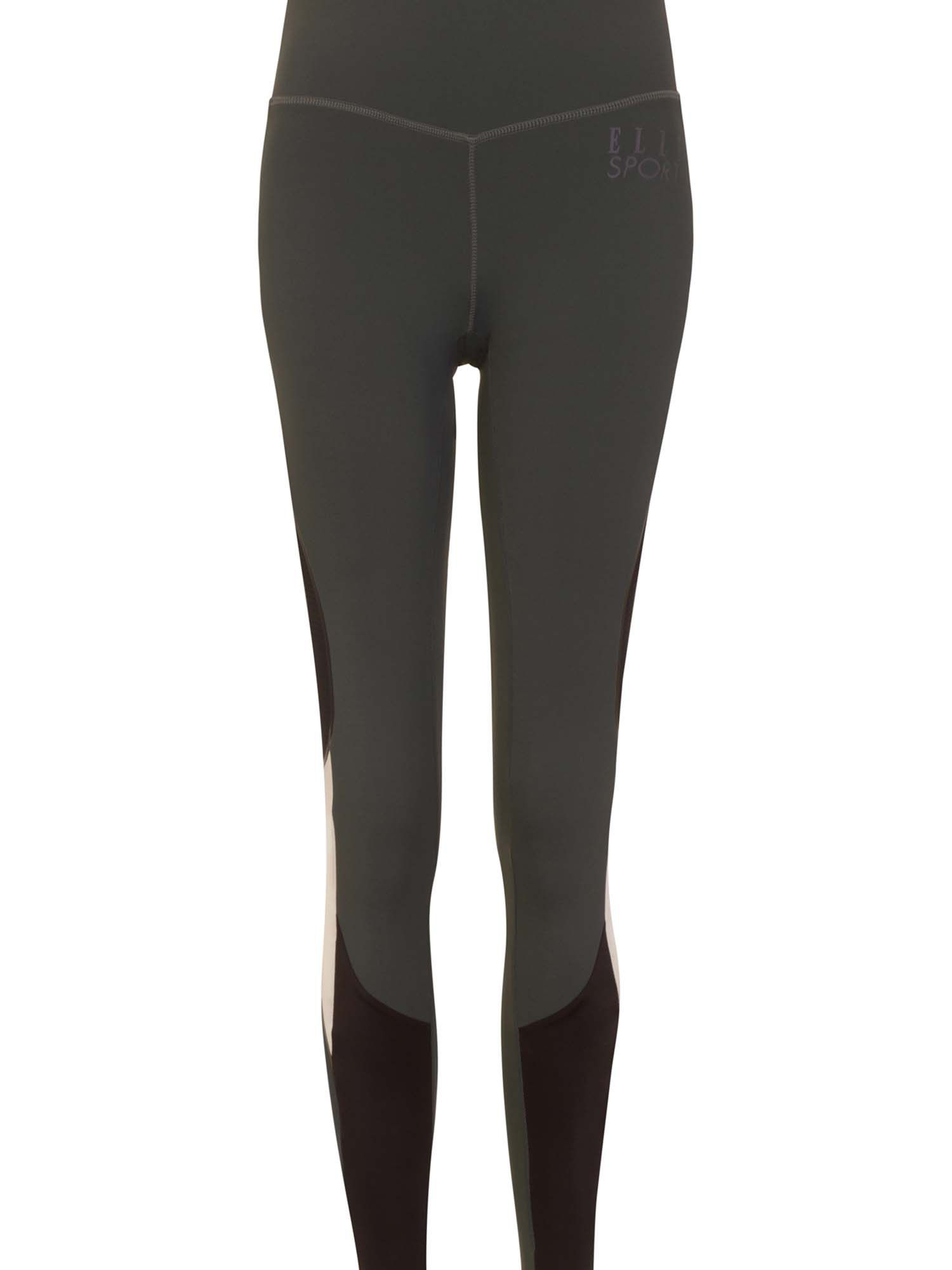 Elle Sport Statement Contour Panelled Workout Tight, Dary Grey Marl